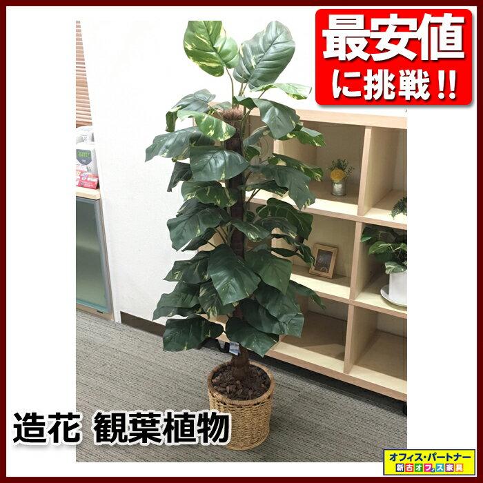 フェイクグリーン オフィスグリーン 観葉植物 造花【中古オフィス家具】【中古】
