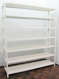軽量ラック 軽量棚 スチールラック 本棚 書棚 キャビネット W1800×D450 棚板枚数選べます!【中古オフィス家具】【中古】