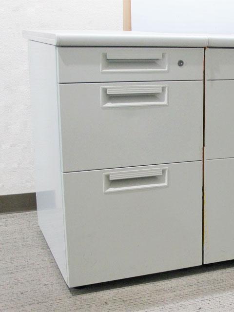 袖机 脇机 3段 サイドワゴン デスクワゴン【中古オフィス家具】【中古】