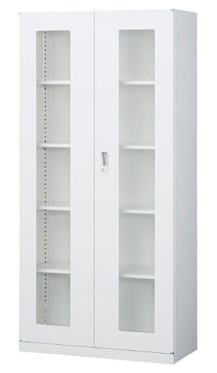 両開き書庫 A4対応 収納棚 キャビネット 本棚 書棚 スチール書庫