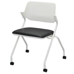 会議チェア ミーティングチェア ミーティング用チェア スタッキングチェア 椅子 イス いす 折り畳み キャスター付き 5色あり テレワーク 家具 在宅 勤務 リモートワーク コワーキング
