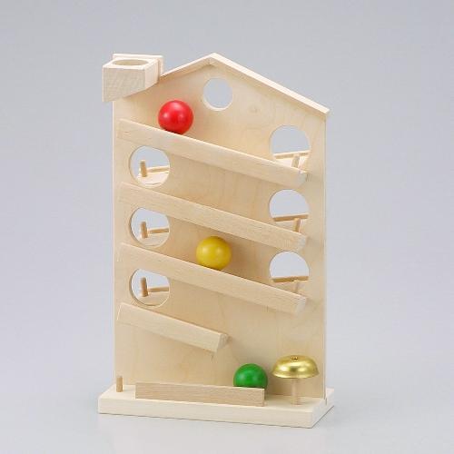 ハウスクーゲルバーン 白木 玉落とし 木のおもちゃ スロープ 木製 木のおもちゃ 出産祝い クーゲルバーン 知育玩具 木製