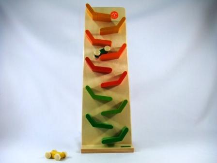 クネクネバーン・レインボー 木のおもちゃ スロープ BECK (ベック社) 木のおもちゃ スロープ 木製 木のおもちゃ 出産祝い クーゲルバーン 知育玩具
