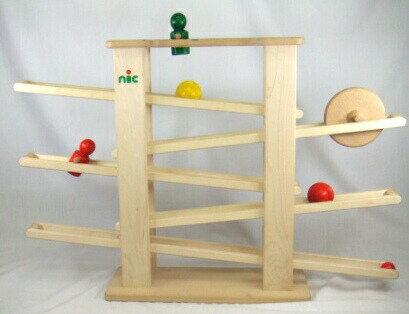 NICスロープ(ニックスロープ) 木のおもちゃ スロープ 転がる 木製 木のおもちゃ 出産祝い クーゲルバーン 知育玩具