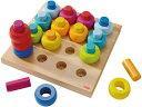 カラーリングのペグ遊び 木のおもちゃ 点 線 知育玩具 模様づくり ペグ 棒 HABA ハバ ドイツ