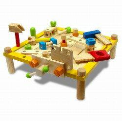 カーペンターテーブル I'm TOY アイムトイ 知育玩具 木のおもちゃ トンカチ 大工 ハンマー 送料無料 お誕生日 1歳 2歳