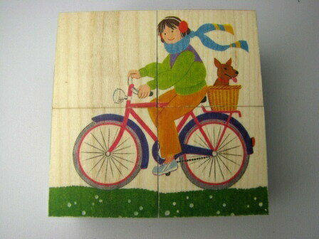 六面体パズル・4pcs・乗り物 知育玩具 3歳 4歳 5歳 キューブパズル 幼児 アトリエ・フィッシャー 六面体パズル 木のおもちゃ 木製 知育 男の子 女の子 玩具 オモチャ パズル 子ども キューブ 誕生日