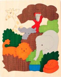 【ジョージラック】2重パズル・アフリカ パズル 木 木製 木のおもちゃ 幼児