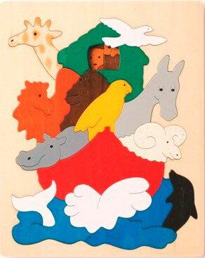 【ジョージラック】2重パズル・ノアの方舟 パズル 木 木製 木のおもちゃ 幼児