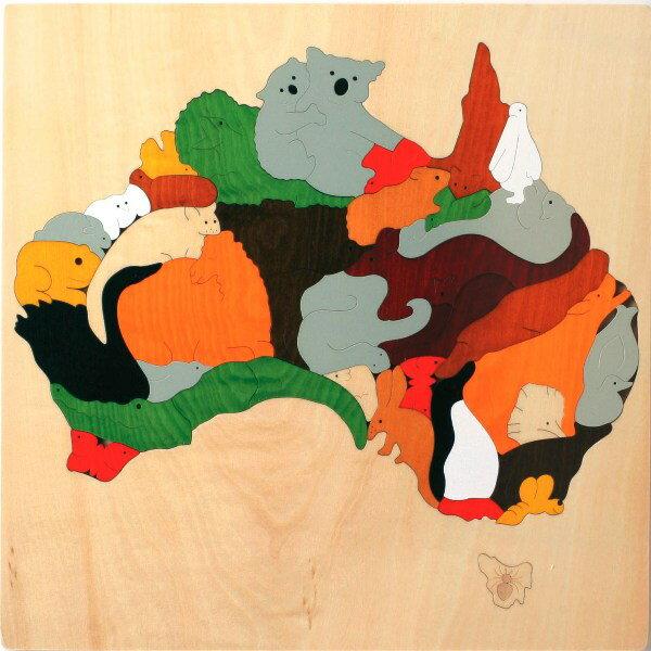 【ジョージラック】 地図パズル・オーストラリア パズル 木 木製 木のおもちゃ 幼児 高級