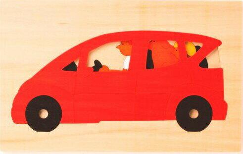 【ジョージラック】 2重パズル・ミニバン パズル 木 木製 木のおもちゃ 幼児