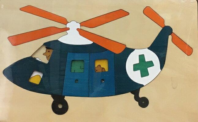 【ジョージラック】 2重パズル・ヘリコプター パズル 木 木製 木のおもちゃ 幼児