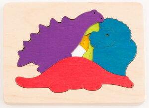 3重パズル・恐竜 パズル 木 木製 木のおもちゃ 幼児