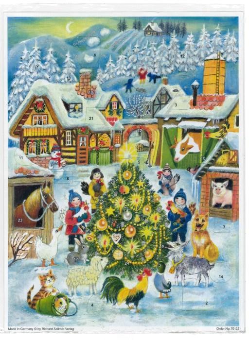 牧場のクリスマスツリー(B4くらい)