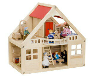 マイドールハウスセット ボーネルンド ドールハウス 女の子への贈り物 bornelund ままごと 木のおもちゃ ごっこ遊び 知育玩具 誕生