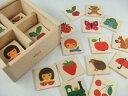 キーナーメモリー メモリー 神経衰弱 木のおもちゃ キーナー 木 板 白木 ラッピング カードゲーム
