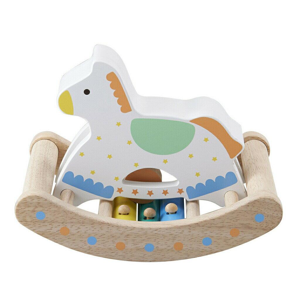 カランコロン木馬 0.1.2歳 赤ちゃん 木のおもちゃ 手遊び 音が出る 出産祝い