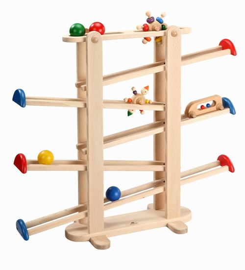 プレジャーガーデン 木のおもちゃ スロープ 木製 木のおもちゃ 出産祝い クーゲルバーン 知育玩具 木製 転がる