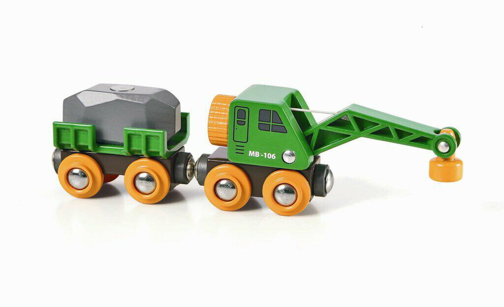 BRIO 緑のクレーンワゴン