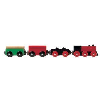 オールドタイマー4両(9651) MICKI ミッキィ社 汽車セット 木製レール 木のおもちゃ 木製 汽車 レール 出産祝いお誕生日 知育玩具