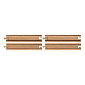 直線4本(9628) MICKI ミッキィ社 汽車セット 木製レール 木のおもちゃ 木製 汽車 レール 出産祝いお誕生日 知育玩具