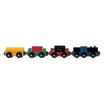 貨車4両(9644) MICKI ミッキィ社 汽車セット 木製レール 木のおもちゃ 木製 汽車 レール 出産祝いお誕生日 知育玩具