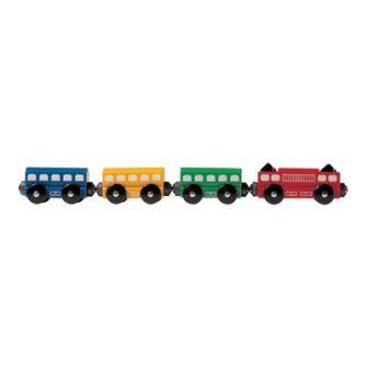 特急4両(9640) MICKI ミッキィ社 汽車セット 木製レール 木のおもちゃ 木製 汽車 レール 出産祝いお誕生日 知育玩具