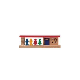 駅と乗客(9649)・受注発注 MICKI ミッキィ社 汽車セット 木製レール 木のおもちゃ 木製 汽車 レール 出産祝いお誕生日 知育玩具