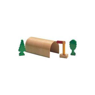 トンネル4点セット(9639) MICKI ミッキィ社 汽車セット 木製レール 木のおもちゃ 木製 汽車 レール 出産祝いお誕生日 知育玩具