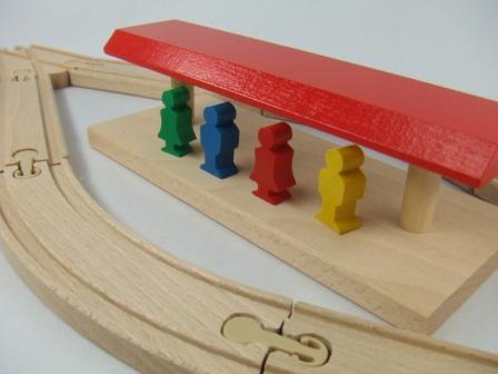 汽車セット 中央駅 MICKI ミッキィ社 汽車セット 木製レール 木のおもちゃ 木製 汽車 レール 出産祝いお誕生日 知育玩具