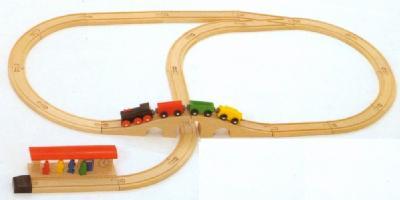 ミッキィ社 MICKI 汽車セットスタンダード (BRIOの車両1個サービス) 汽車セット 木製レール 木のおもちゃ 木製 汽車 レール 出産祝いお誕生日 送料無料 知育玩具