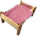 プッツェベッド布団付き 白木 木製ベッド 人形 ままごと お世話 女の子 ごっこ遊び
