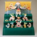 楕円武者三段飾り・特製垂幕・富士