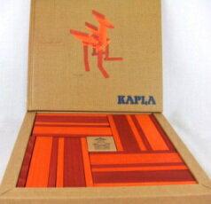 カラーカプラ(赤)(KAPLA) 造形積木 木のおもちゃ 魔法の板 ブロック 知育玩具
