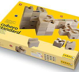 【2021年1〜3月お届け・正規輸入品】cuboro スタンダード) (cuboro standard 玉の道 玉ころがし 木のおもちゃ 知育玩具 積み木 白木 立方体 キュボロ