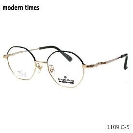 modern times (モダンタイムス) MT-1109 C-5 ゴールド ツートンチタン フルリム メガネ 日本製 伊達メガネ PCメガネ 度なし度付き対応 眼鏡