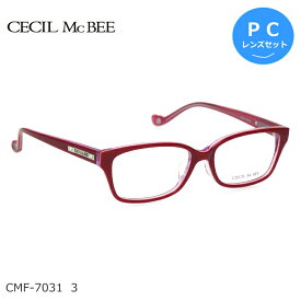 CECIL McBEE (セシルマクビー) ブルーライトカット PCメガネセット CMF-7031 3 レッド 度なし度付き対応 レディース【RCP】