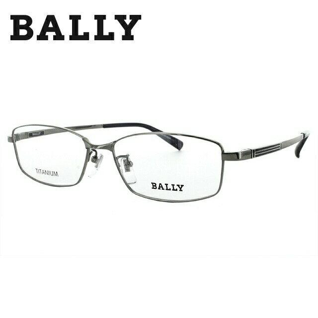 バリー メガネ 伊達レンズ無料 0円 メガネフレーム BALLY BY3017J 2 56 グレー/ネイビー 調整可能ノーズパッド