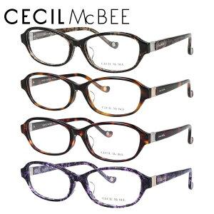 【選べる無料レンズ → PCレンズ・伊達レンズ・老眼鏡レンズ】 セシルマクビー メガネフレーム アジアンフィット CECIL McBEE CMF 7052 全4カラー 53サイズ オーバル レディース