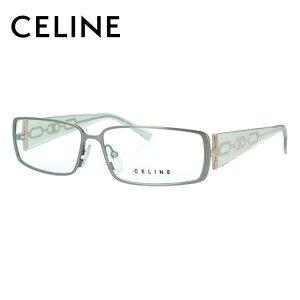 【選べる無料レンズ → PCレンズ・伊達レンズ・老眼鏡レンズ】 セリーヌ メガネフレーム 伊達メガネ CELINE VC1308M 0SD4 56サイズ スクエア レディース ブラゾン アイコン ロゴ