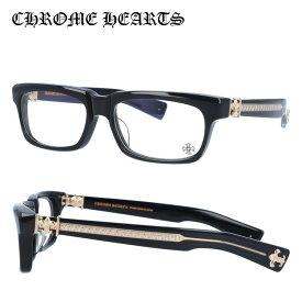 【選べる無料レンズ → PCレンズ・伊達レンズ・老眼鏡レンズ】 クロムハーツ メガネフレーム アジアンフィット CHROME HEARTS SPLAT-A BK-GP 55サイズ スクエア ユニセックス メンズ レディース