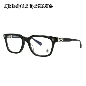 【選べる無料レンズ → PCレンズ・伊達レンズ・老眼鏡レンズ】クロムハーツ メガネフレーム 伊達メガネ レギュラーフィット CHROME HEARTS COX UCKER BK 52サイズ 海外正規品 ウェリントン ユニセッ