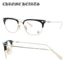 【選べる無料レンズ → PCレンズ・伊達レンズ・老眼鏡レンズ】クロムハーツ メガネフレーム 伊達メガネ CHROME HEARTS SLUNTRADICTION BK/GP 54サイズ 海外正規品 ブロー ユニセックス メンズ レディース 日本製 クロス CHプラス