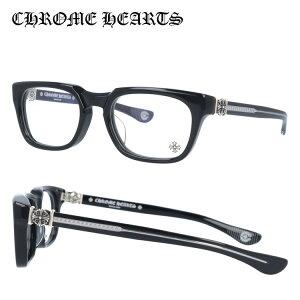 クロムハーツ メガネフレーム 伊達メガネ レギュラーフィット CHROME HEARTS GRIM BK Black 54サイズ スクエア ユニセックス メンズ レディース 日本製 フローラル