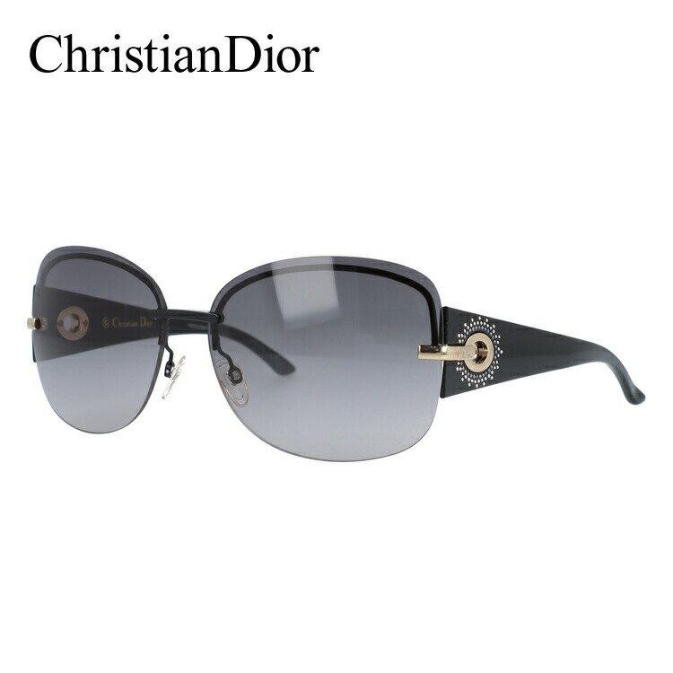 クリスチャン・ディオール サングラス Christian Dior DIOR PRECIEUSEF BKS/EU 64 ブラック ノーズパッド調節可能 レディース UVカット