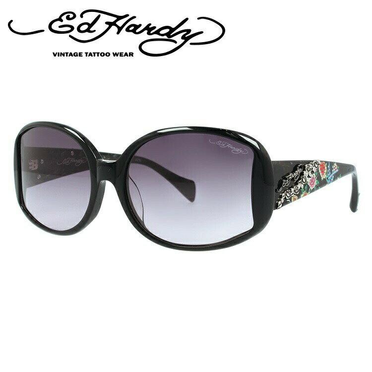 エドハーディー サングラス EdHardy BIRD ROSES ブラック/スモークグラデーション UVカット 新品