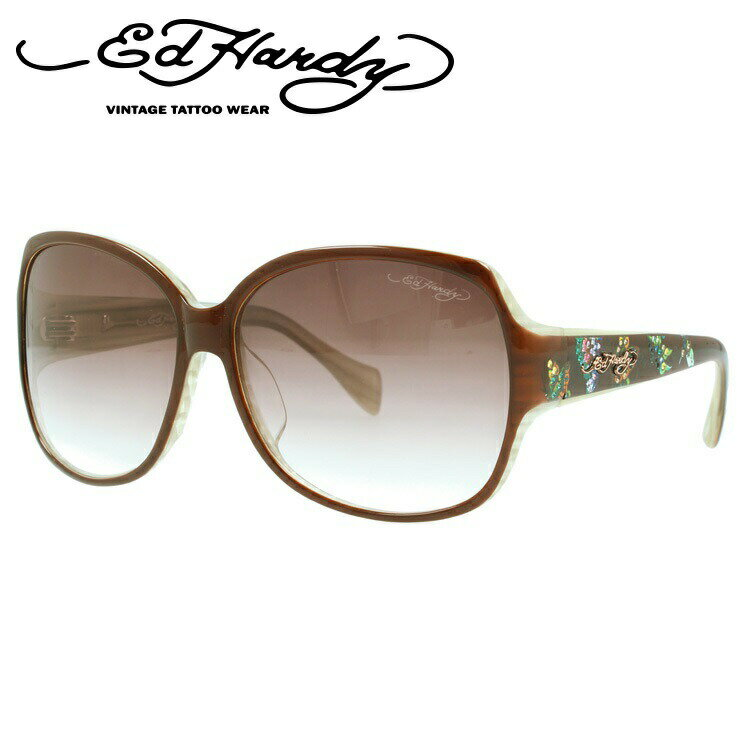 エドハーディー サングラス EDHARDY バタフライズ BUTTERFLIES 2 BROWN メンズ レディース UVカット 新品