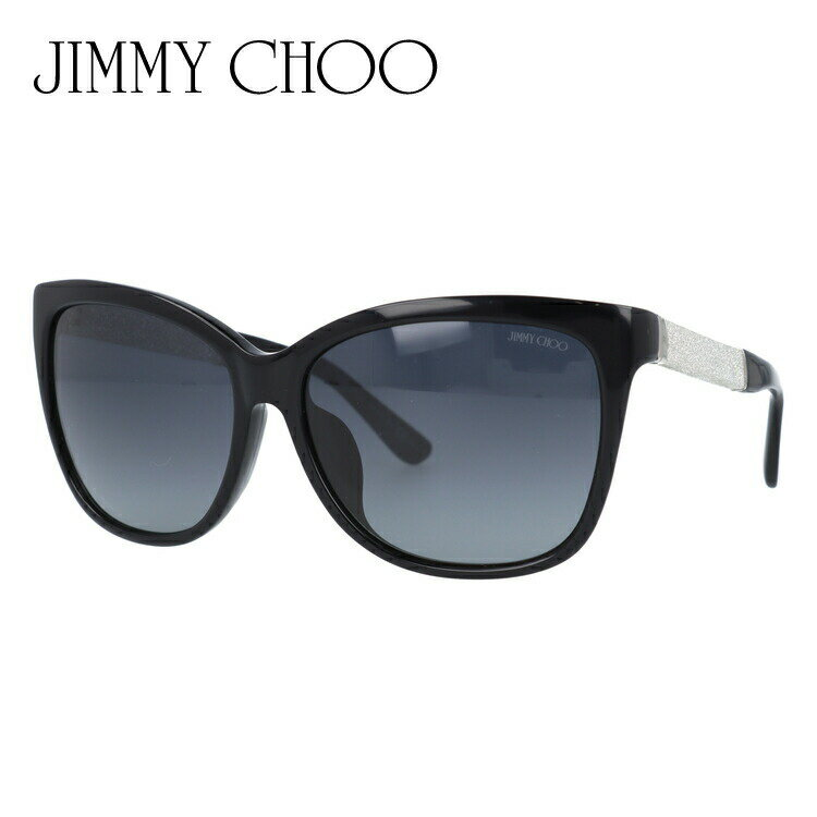 ジミーチュウ JIMMY CHOO サングラス CORA FS FA3/HD 58 ブラック/グリッター アジアンフィット レディース UVカット 新品