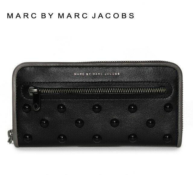 マークバイマークジェイコブス 財布 MARC BY MARC JACOBS 長財布 MBMJ M0006020 Black Multi ブラック Luna Studs Slim Zip Around Color 002 レディース