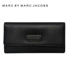 マークバイマークジェイコブス 財布 MARC BY MARC JACOBS 長財布 MBMJ M0006935 001 Black ブラック Trifold Flap Wallet 001